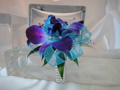 purple blue wrist corsage under $30 - Google Search