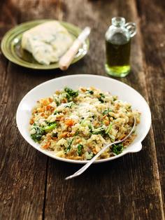 Risotto met spinazie en gorgonzola