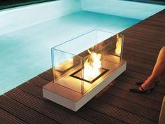 Radius Design 544 N Ethanolkamin Uni Flame Edelstahl Weiß