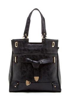 Tie Front Accent Handbag