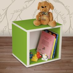 Way Basics Eco Modern Storage Cube - Green - casa.com