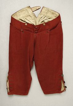 Breeches with flap front closed. Image @Maggie Moore Moore Moore Museum