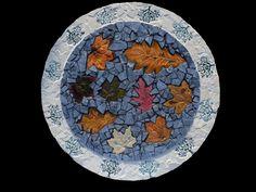 Leaf mosaic lazy susan