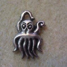 "Hand cast Greek silver charm. 1/2"" winnieandbelle  Octupus!"