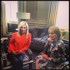 MC and Barbara Walters in London home for interview