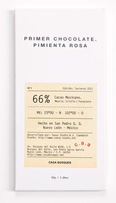 Casa Bosques Chocolates designed by Savvy Studio