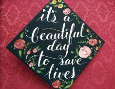 Graduation cap for nursing student (Painted by Yen Hague)