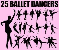Huge pink silhouette set of ballet dancers in different ballet poses and positions. Each silhouette is isolated and can be used individually. Silhouette Portrait, Silhouette Vector, Silhouette Design, Silhouette Cameo, Silouette Cameo Projects, Silhouette Projects, Ballet Art, Ballet Dancers, Free Vector Files