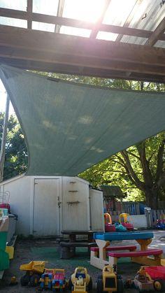 Sage shade sail for daycare Sun Sail Shade, Sailing, Shades, Outdoor Decor, Home Decor, Candle, Shutters, Sunglasses, Interior Design