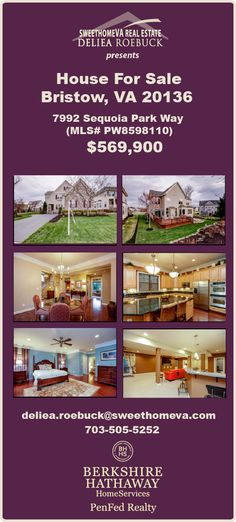 $569,900 ~ www.sweethomeva.com presents 7992 Sequoia Road, one of the most beautiful houses for sale in Bristow VA. Original owner has expertly and lovingly taken care of this Miller & Smith original. Click to see HD video and photos now! #princewilliamcounty #bristowva #houseforsale #northernvahomeforsale #berkshirehathawayhs #goodtoknow