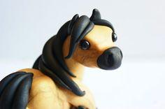 Horse Sculpture Cute Miniature Polymer Clay por TumbleCreatures, $30.00