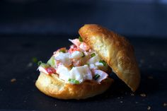 Smitten Kitchen Lobster Rolls -- one of the comments suggested grilling the bun with herbed butter....YUM!