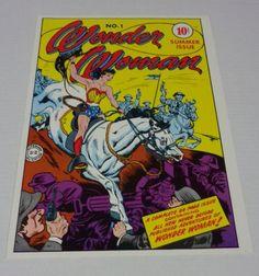 Sexy vintage original 1970's DC Comics Wonder Woman 1 cover art pin-up poster: 1978 Classic DC Universe comic book superhero poster pinup