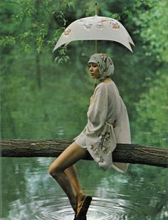 Marie Helvin by Barry Lategan for Vogue UK, 1971