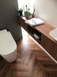 Japanese Modern House, Modern Toilet, Toilet Design, Powder Room, Interior And Exterior, Lounge, Living Room, Architecture, Furniture
