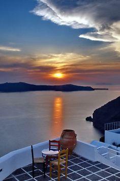 GREECE CHANNEL   Santorini sunset