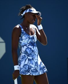 #19-Seed Venus Williams of the United States def. by #13-Seed Sara Errani of Italy during their 2014 US Open women's singles match at the USTA Billie Jean King National Tennis Center August 29, 2014. The bizarre scoreline: 0-6, 6-0, 6(5)-7.