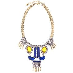 Yellow/Royal Necklace