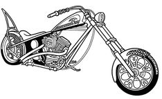 Black and White Clip Art: Free Motorcycle Black and White Clipart
