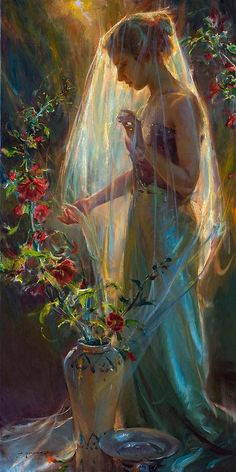 """Such mastery of color and light! [""""Sun"""" - Painting by Daniel Gerhartz]"""