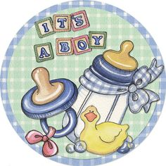 It's a Boy (Laurie Furnell) Dibujos Baby Shower, Baby Shower Clipart, Baby Shower Cakes, Baby Shawer, Baby Art, Baby Images, Baby Pictures, Scrapbook Bebe, Baby Cards