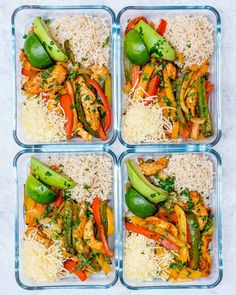 Oven-Baked Chicken Fajita Bowls for Clean Eating Meal Prep! - Clean Food Crush