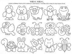 Redwork i aplicacions Felt Patterns, Applique Patterns, Colouring Pages, Coloring Books, Animal Templates, Busy Book, Quiet Books, Digi Stamps, Felt Animals