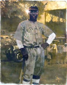 Oscar Charleston of the Homestead Grays, oil on linen, 26 x 20 1:2 in. by Bernie Fuchs