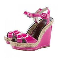 cab80ce1bc97 Christian Louboutin By Shoes 2013 Wedges Almeria Espadrille Framboise