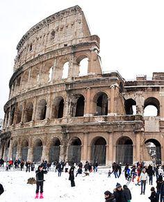 Colosseum in winter