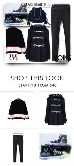 """""""YOINS 27."""" by allanaaa11 ❤ liked on Polyvore featuring Converse, Kershaw and yoins"""