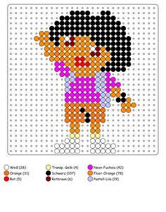 Dora Bügelperlen Vorlage - perler bead pattern