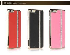 Electroplate women fashion diamond phone cover leather mobile phone case iPhone 6 iPhone 6plus