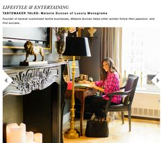 @Rue Magazine gives you an inside peak of my NYC workspace: http://www.ruemag.com/lifestyle-entertaining/melanie-duncan-of-luxury-monograms