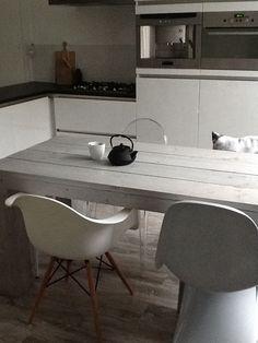 Steigerhout, dining,kitchen
