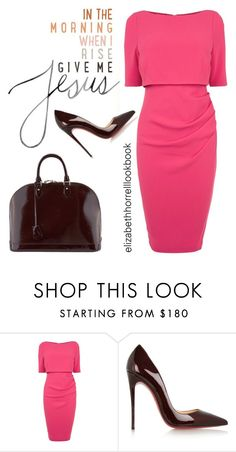"""LIZ"" by elizabethhorrell ❤ liked on Polyvore featuring Coast, Christian Louboutin and Louis Vuitton"
