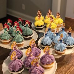 Princess Cupcake Toppers, Superhero Cupcake Toppers, Custom Cupcake Toppers, Cake Pop Toppers, Just about any theme Toppers - Birthday Party 2 Superhero Cupcake Toppers, Princess Cupcake Toppers, Disney Princess Birthday Party, Birthday Parties, 4th Birthday, Birthday Ideas, Cinderella Party, Birthday Design, Princess Birthday Centerpieces