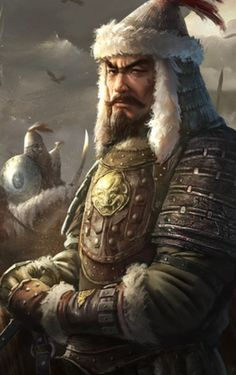 Ögedei Khan third son of Genghis Khan. Reigned over the Mongol Empire from Genghis Khan, Character Inspiration, Character Art, Character Design, Character Portraits, Mongolia, Tattoo Guerreiro, Attila The Hun, Macho Alfa