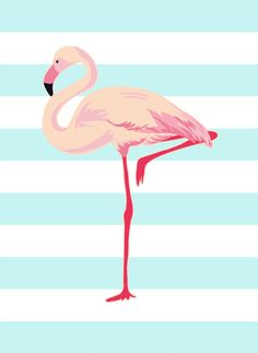 FLamingo with blue stripe background Poster Flamingo, Flamingo Art, Cellphone Wallpaper, Iphone Wallpaper, Image Deco, Flamingo Wallpaper, Printable Wall Art, Cute Wallpapers, Illustration