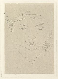 "Henri Matisse ""Irène, head lowered"" 1914 Etching on chine colle"