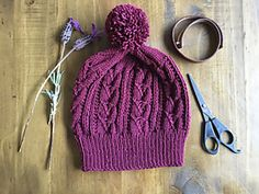 Ravelry: Twisted Lace Cabled Hat pattern by RachyKnits by Rachel Kleynhans Knit Crochet, Crochet Hats, Knit In The Round, Yarn Projects, Stitch Markers, Creative Crafts, Baby Hats, Knitted Hats, Knitting Patterns