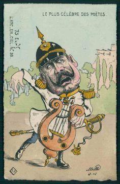 WWI, French postcard (Kaiser)