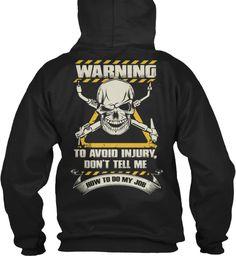 Welder Closing Soon Black Sweatshirt Back