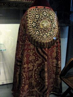 """1848-1850 British Cope and Hood at the Victoria and Albert Museum, London - From the curators' comments: """"A.W.N. Pugin was a Roman Catholic architect a crusading mission to revive Gothic as the only morally right style of decoration. He designed these vestments for his own church, St. Augustine's, Ramsgate, Kent. His zeal for promoting the Gothic style influenced many churches, not just those that were Roman Catholic."""""""