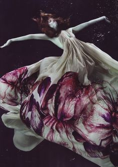 ROBERTO CAVALLI dress floating on Marcelina Sowa | Numero Tokyo | photo by Alix Malka