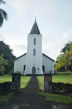 Historical Wananalua Congregational Church in Maui, Hawaii built in 1842. The church has walls that are made from lava and coral. photography by http://www.cherianthomasphoto.com