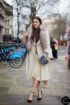 #New on #STYLEDUMONDE  http://www.styledumonde.com/  Before #ChristopherKane at #london #fashionweek #lfw #fw14 #whites #outfit #ootd #streetstyle #streetfashion #streetchic #snobshots #streetlook #fashion #mode #style