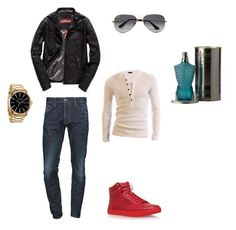 """""""Untitled #4"""" by johannajm on Polyvore featuring Dolce&Gabbana, Superdry, Ray-Ban, Dsquared2, Nixon, Jean-Paul Gaultier, men's fashion and menswear"""