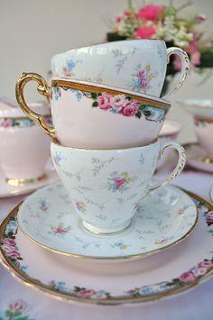 Pink China Teacup Stack   Flickr – Compartilhamento de fotos!