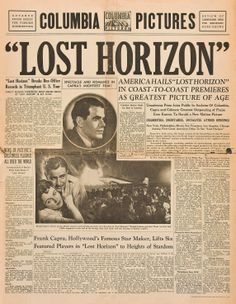 Lost Horizon 1937 Ronald Colman, Herbert Lom, Wax Statue, Lost Horizon, Old Hollywood Movies, Romance Film, Famous Names, First Language, Columbia Pictures